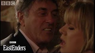 Johnny threatens Dennis's wife Sharon - EastEnders - BBC drama