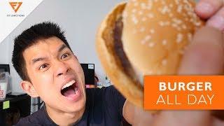กิน BURGER ทั้งวัน อ้วนไหม? ประวัติที่มาของ Hamburger [Fit Vlog 7]