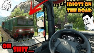 ★ IDIOTS on the road #37 - ETS2MP   Funny moments - Euro Truck Simulator 2 Multiplayer