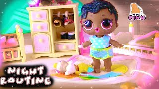 LOL NIGHT ROUTINE! ВЕЧЕР КУКЛЫ ЛОЛ LOL SURPRISE DOLLS HAIRGOALS MAKEOVER! kids play #Пупсики
