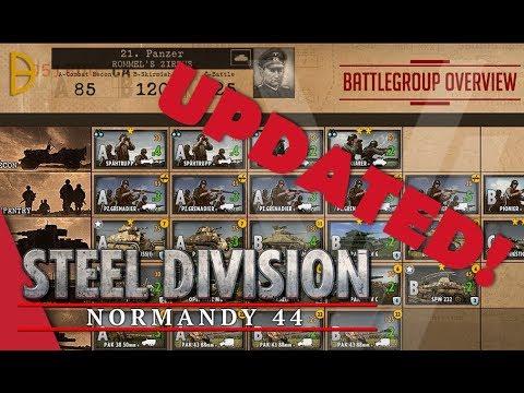 UPDATED! 21st Panzer (Rommel's Zirkus) - Steel Division: Normandy 44 Battlegroup Overview #7