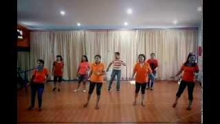 """HIP HIP HURA line dance (Roosamekto """"Mamek"""") demo by Rika&Friends"""