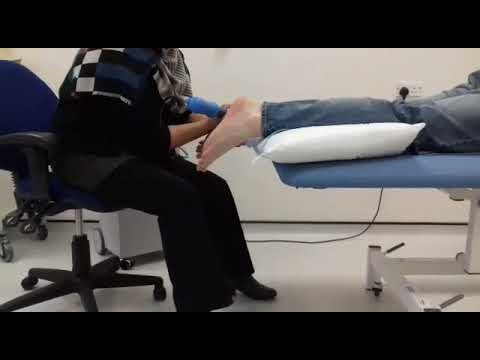 Plantar fasciitis left foot shockwave therapy x 2000 impulses