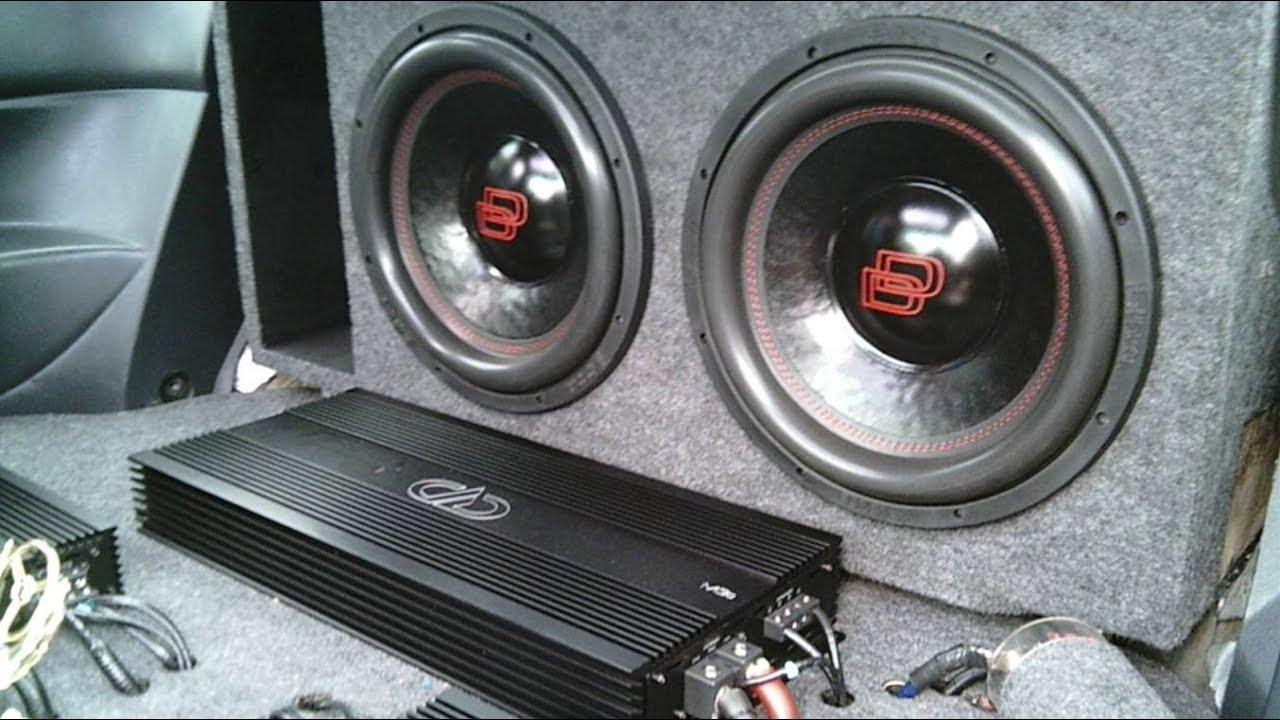 2 Dd Audio 12s On Dd M3b Amp Clean Car Audio Install