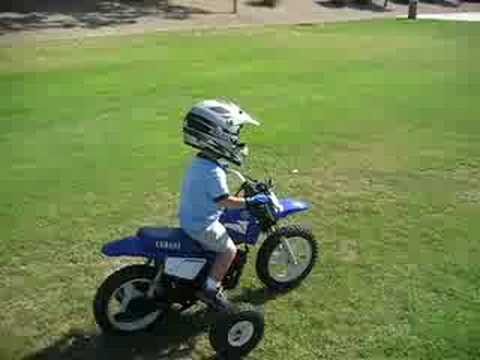 first solo pw50 ride with training wheels at 2 1 2 years old youtube. Black Bedroom Furniture Sets. Home Design Ideas