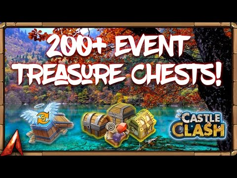 200+ Event Treasure Chest Opening On Main! Castle Clash