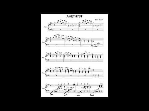 Amethyst:YOSHIKI(X JAPAN), KODA Piano solo arrangement,ピアノソロ編曲版(Garageband)