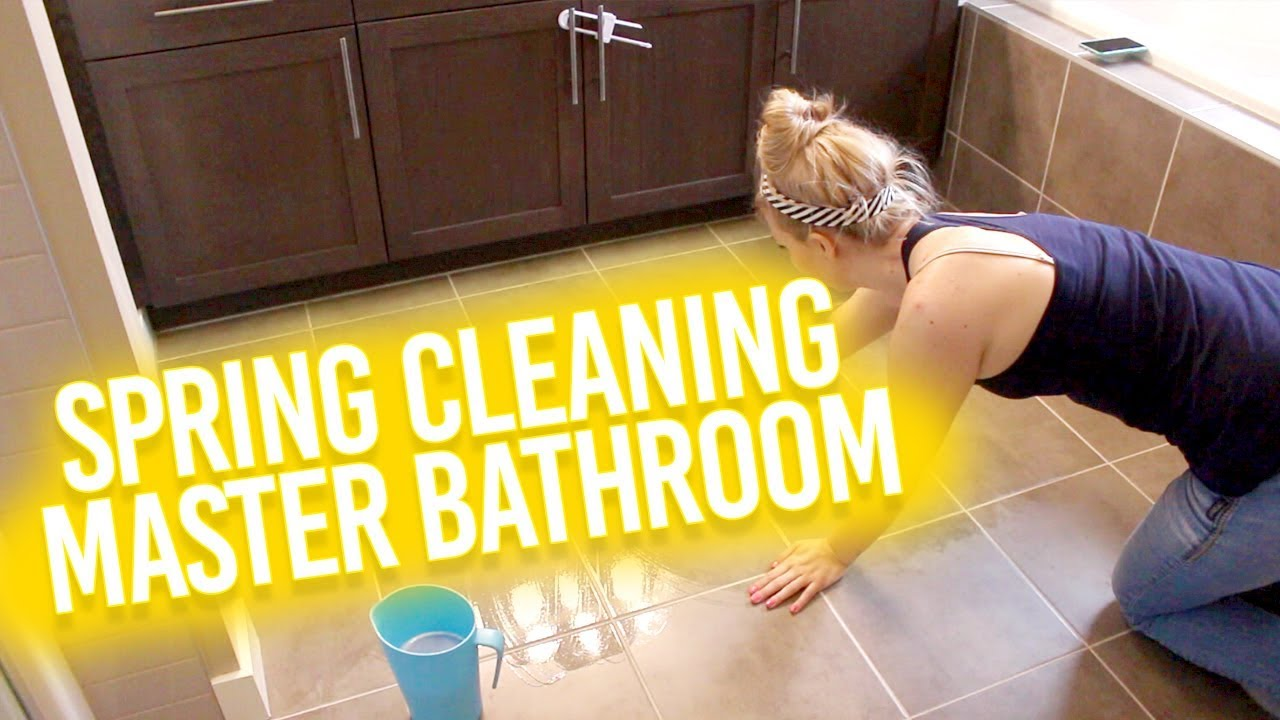 ? DEEP CLEAN MY MASTER BATHROOM ? SPRING CLEANING 2019  ?