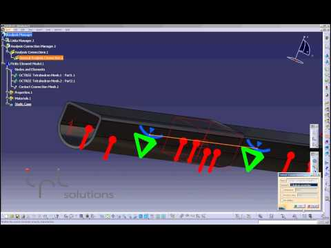 Generative Assembly Structural Analysis (GAS) CATIA V5 - FEA, FEM, MES IPL Solutions
