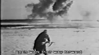 Немецкая военная кинохроника.Атака танков и пехоты на деревню