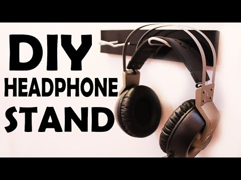 DIY Wall Headphone Stand