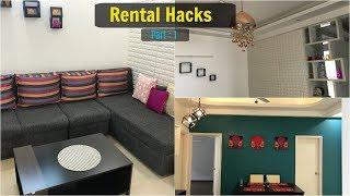 Rental Hacks in (Hindi) | Stylish Home Decor Hacks For Renters | Organizopedia
