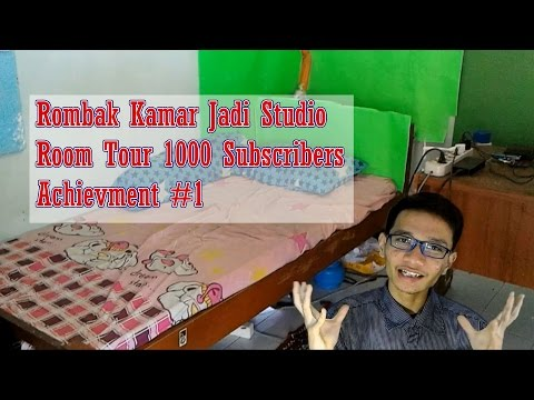 Rombak Kamar Jadi Studio - Room Tour 1000 Subscribers - Achievment #1 from YouTube · Duration:  9 minutes 12 seconds