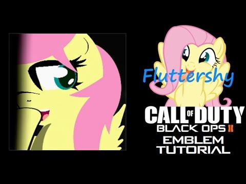 fluttershy emblem tutorial on black ops 2 youtube