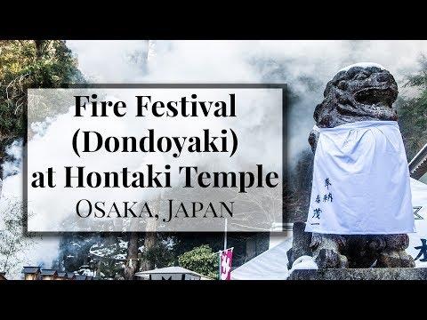 My First 🔥Fire Festival🔥 Dondoyaki at Hontaki Temple in Osaka! - Japan Vlog