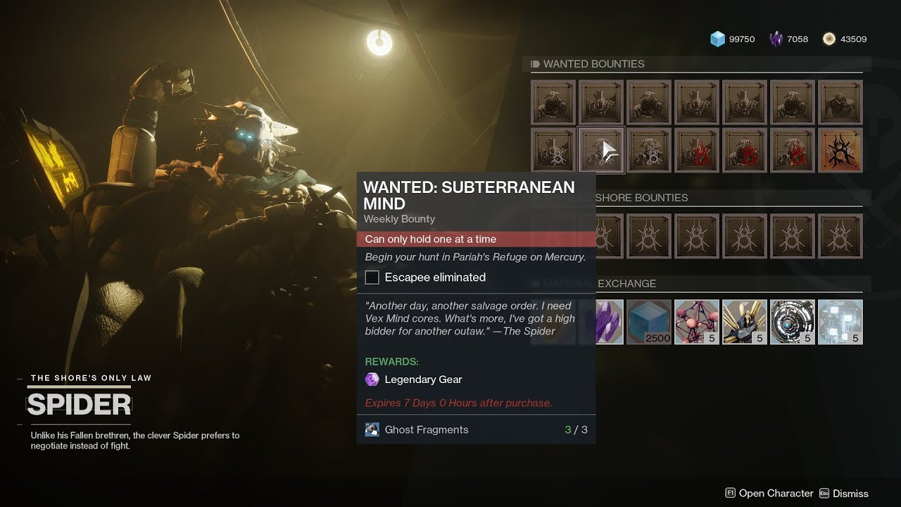 Destiny salvage match making