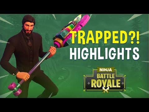 Trapped?!  Fortnite Battle Royale Highlights  Ninja