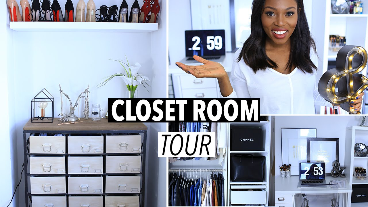 Uncategorized small home office tour organization youtube beauty room tour makeup collection jaclyn hill youtube loft apartment - Updated Closet Room Tour Makeup Shoes Closet Collection