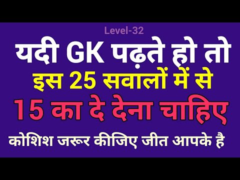 Gk Quiz | General Knowledge Quiz for all Competitive Exams in Hindi | जवाब आपको पता होना चाहिए