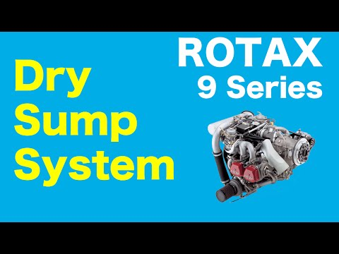 Rotax 9 Series Aircraft Engine - Dry Sump Oil System