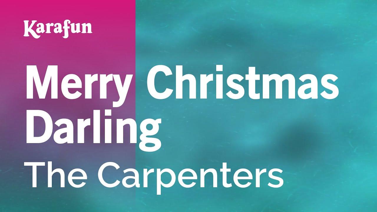 karaoke merry christmas darling the carpenters