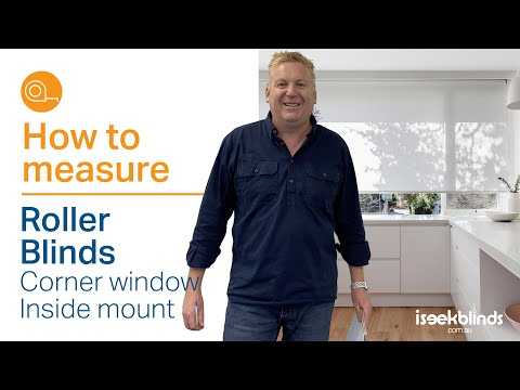 How to Measure - Single Roller Blinds for a Corner Window Inside Mount