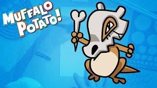 How to Draw CUBONE from POKEMON GO with Muffalo Potato