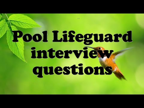 Pool Lifeguard Interview Questions Youtube