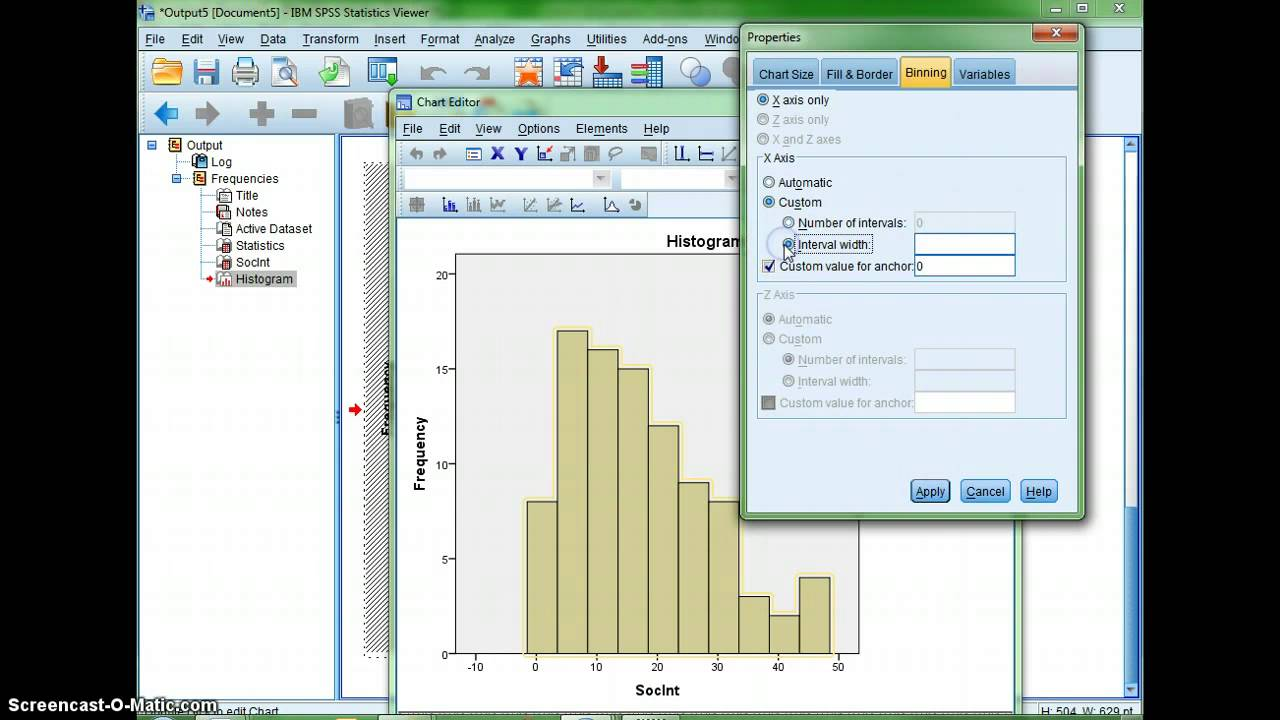 Making a histogram with spss youtube making a histogram with spss ccuart Gallery