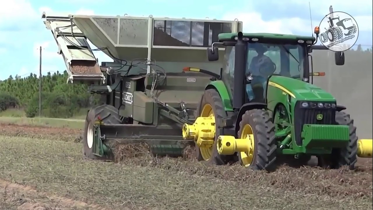 Kmc Peanut Harvesting Technique Youtube