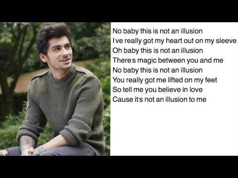 Illusion- One Direction (lyrics w/ pictures)