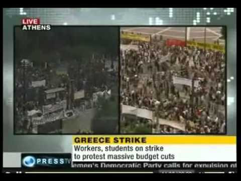 Athens,Greece Big Protests Over Austerity Bill 15th June 2011