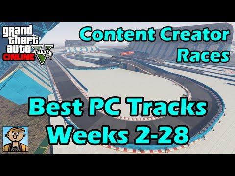 Best PC GTA Race Tracks (Live Stream Weeks 2-28) - GTA Content Creator Races