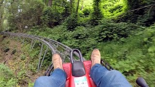 Gatlinburg Mountain Coaster on-ride HD POV @60fps
