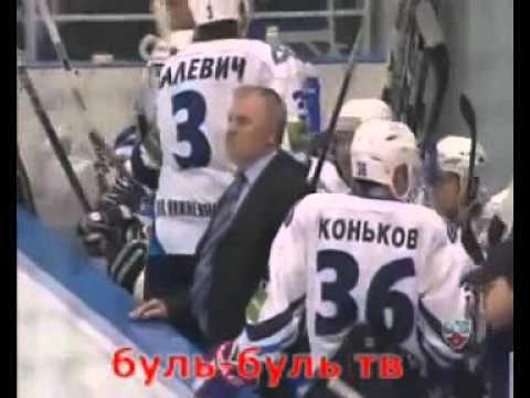 Владимир Малевич первый гол в КХЛ