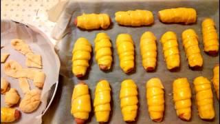 Сосиски в тесте в духовке