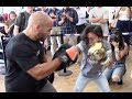 watch he video of COULD THIS BE THE NEXT KATIE TAYLOR? - YOUNG GIRL INVITED TO SHOW UNREAL PAD SKILLS IN FRONT OF HER