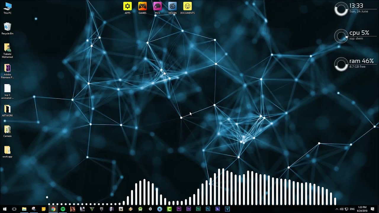 Set Live Wallpapers Animated Desktop Backgrounds in Windows 10 - desktophut - YouTube