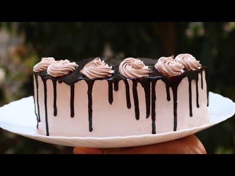 Chocolate cream cake (1kg) Recipe Video | 1kg  ചോക�ലേറ�റ� ക�രീം കേക�ക� | Adukkala Magic Recipes #31