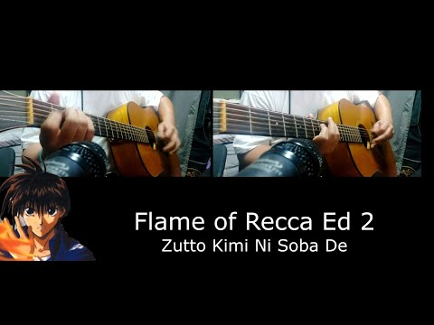 [ Chords / Tabs ] Flame of Recca ED 2 - Zutto Kimi no Soba De (Short Acoustic Guitar Cover)