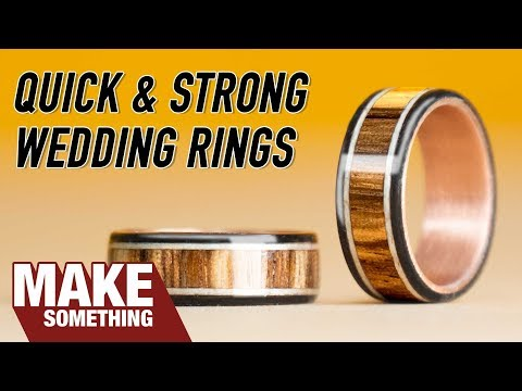 How to Make Wood and Copper Wedding Rings | Easy Woodworking Project