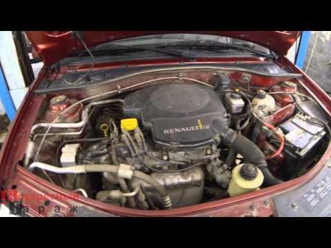 Замена заднего сальника коленвала на Renault Logan