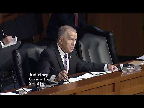 Tillis Questions AG Sessions in Judiciary Hearing