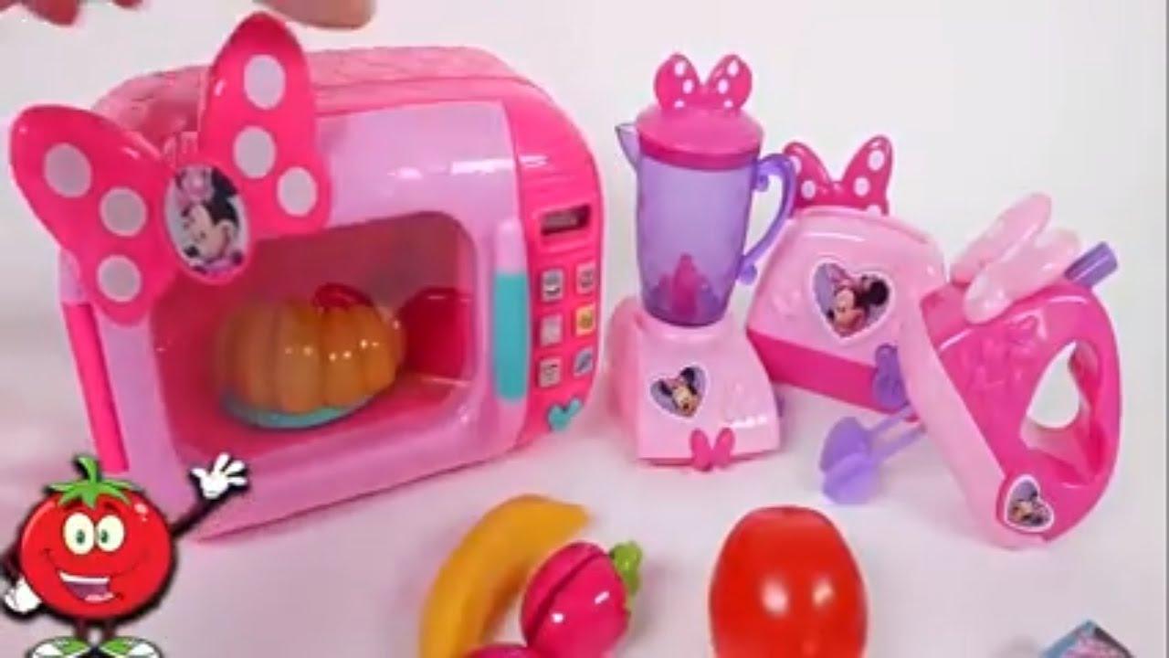 Minnie Mouse Con Juguete Con Frutas Y Verduras Microonda Batidora