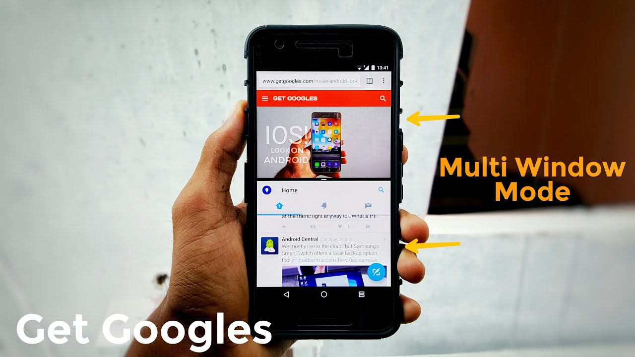 how to get and remove split screen android