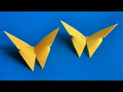 Видеоурок оригами бабочка