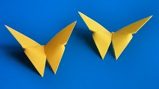 как сделать простую оригами бабочку