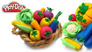 Play doh Vegetables. Tutorial Making Vegetable for Kids. Toys For Kids. Play-Doh Food. DIY for Kids
