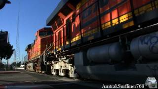 BNSF San Diego Manifest rolling through Santa Ana, CA