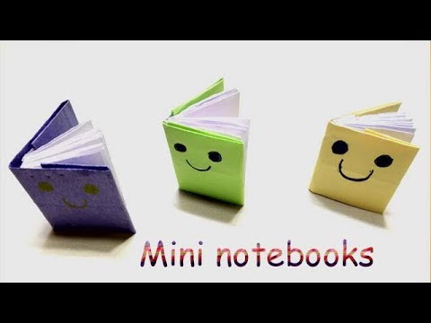 Mini notebooks from paper | Diy mini notebook | paper diary | craft mini diary